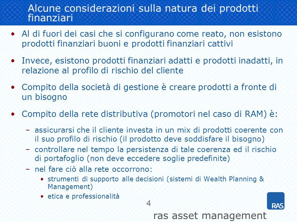 Alcune considerazioni sulla natura dei prodotti finanziari