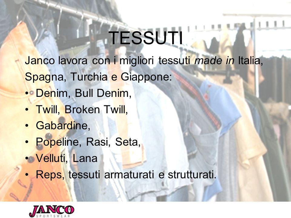 TESSUTI Janco lavora con i migliori tessuti made in Italia,
