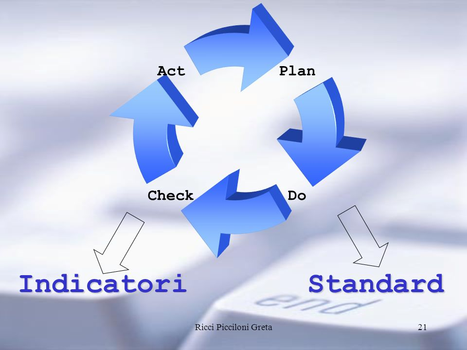 Plan Check Act Do Indicatori Standard Ricci Picciloni Greta