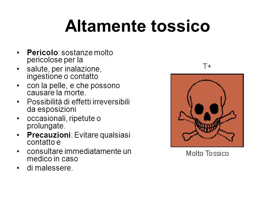 Altamente tossico Pericolo: sostanze molto pericolose per la