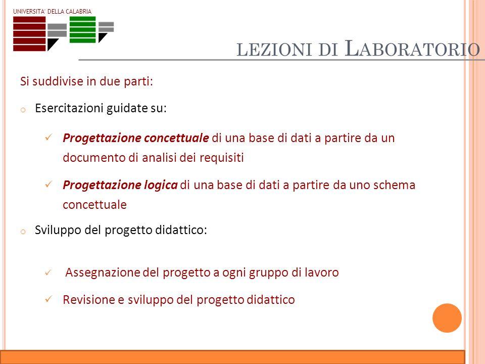 lezioni di Laboratorio
