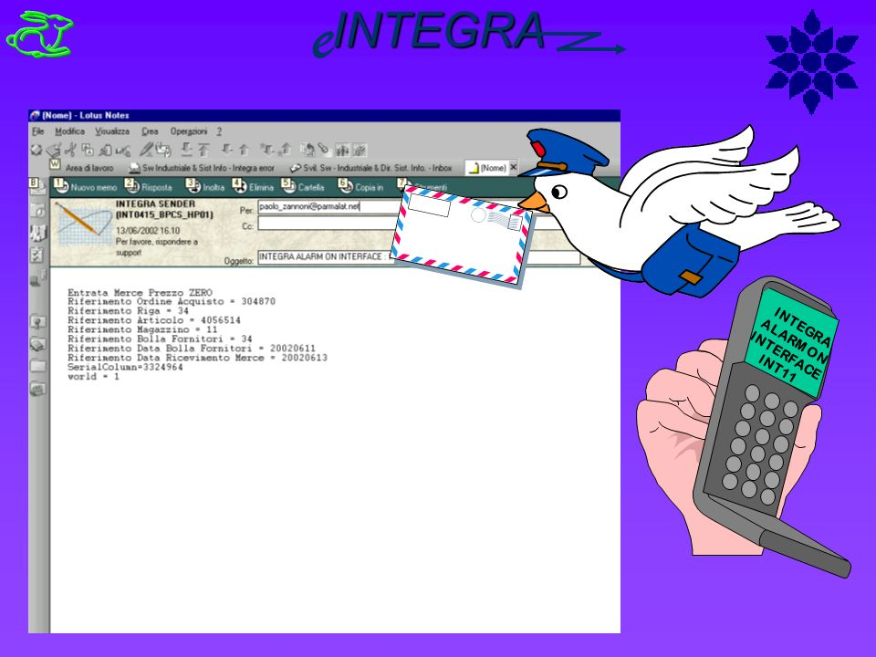 INTEGRA ALARM ON INTERFACE INT11