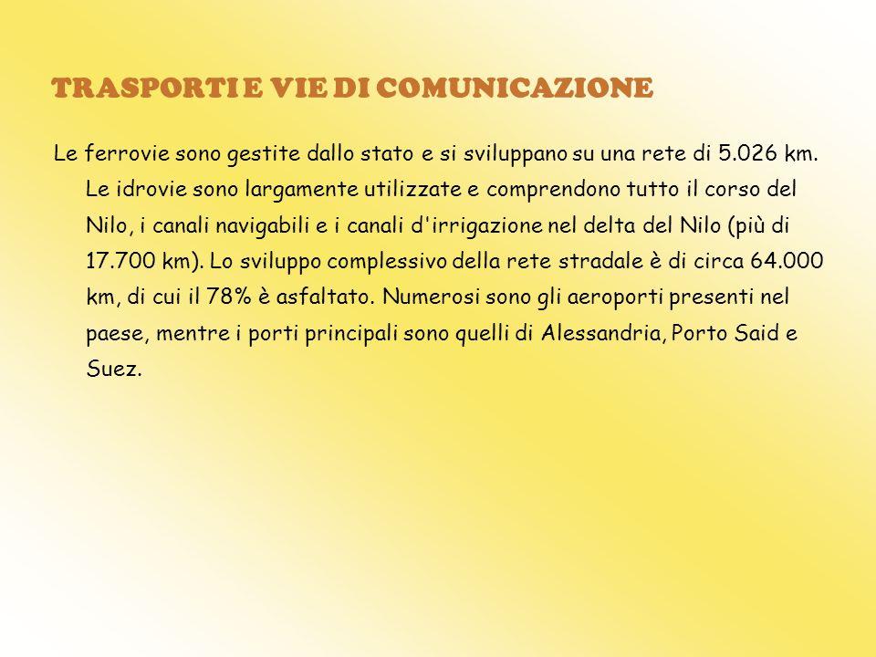 TRASPORTI E VIE DI COMUNICAZIONE