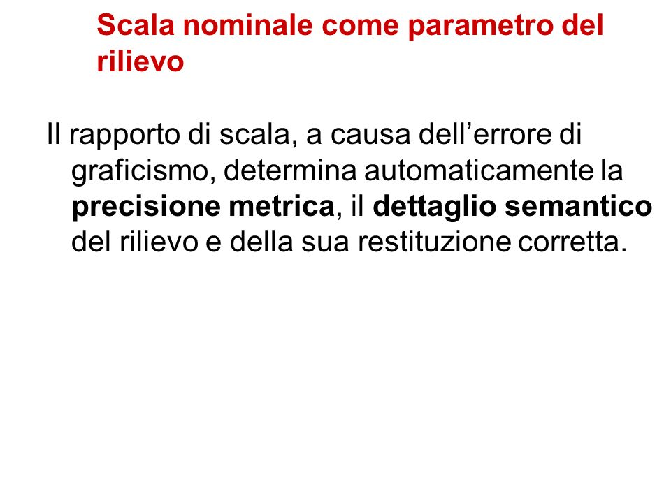 Scala nominale come parametro del rilievo