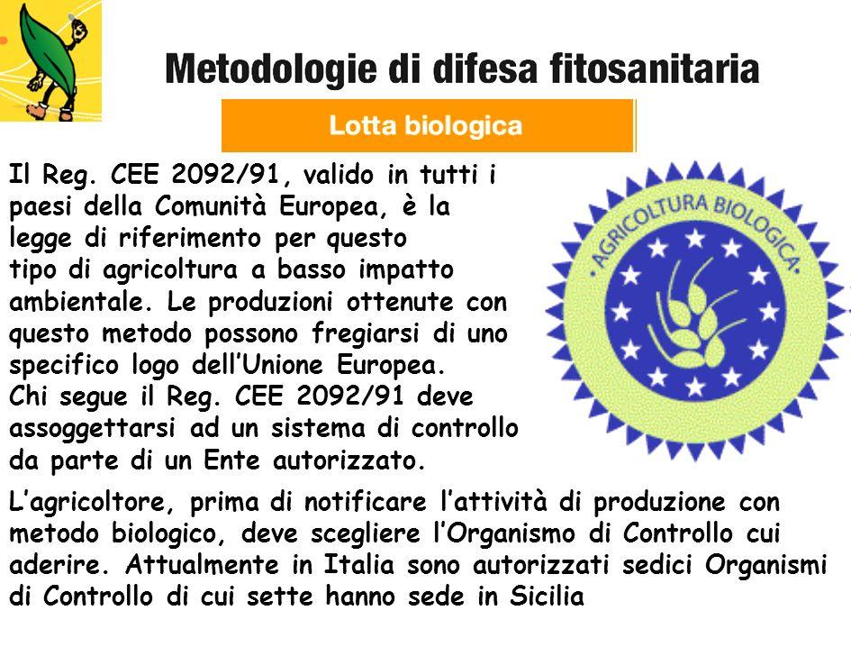 Il Reg. CEE 2092/91, valido in tutti i paesi della Comunità Europea, è la legge di riferimento per questo