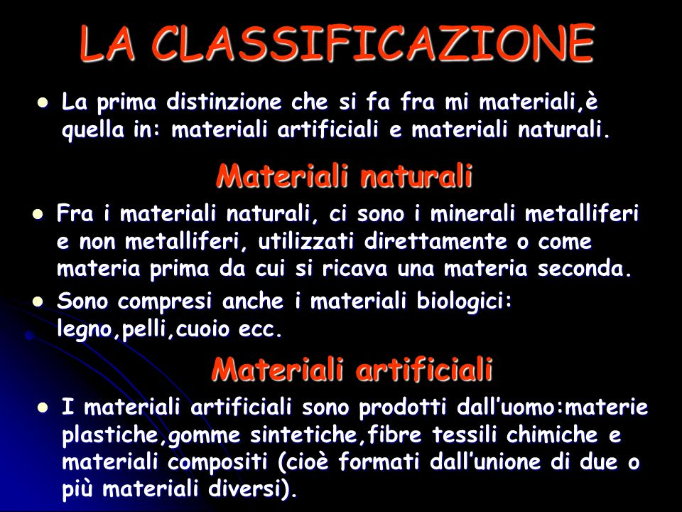 Materiali artificiali