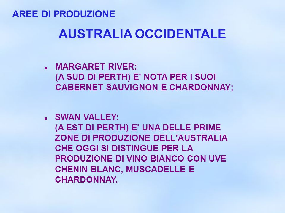 AUSTRALIA OCCIDENTALE