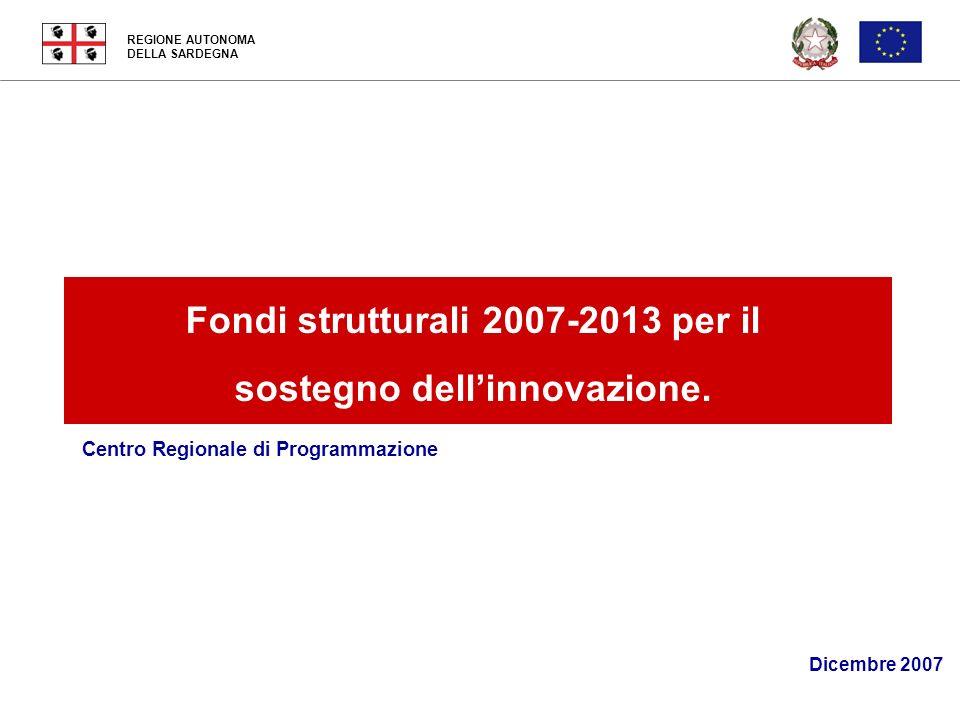 Fondi strutturali 2007-2013 per il sostegno dell'innovazione.