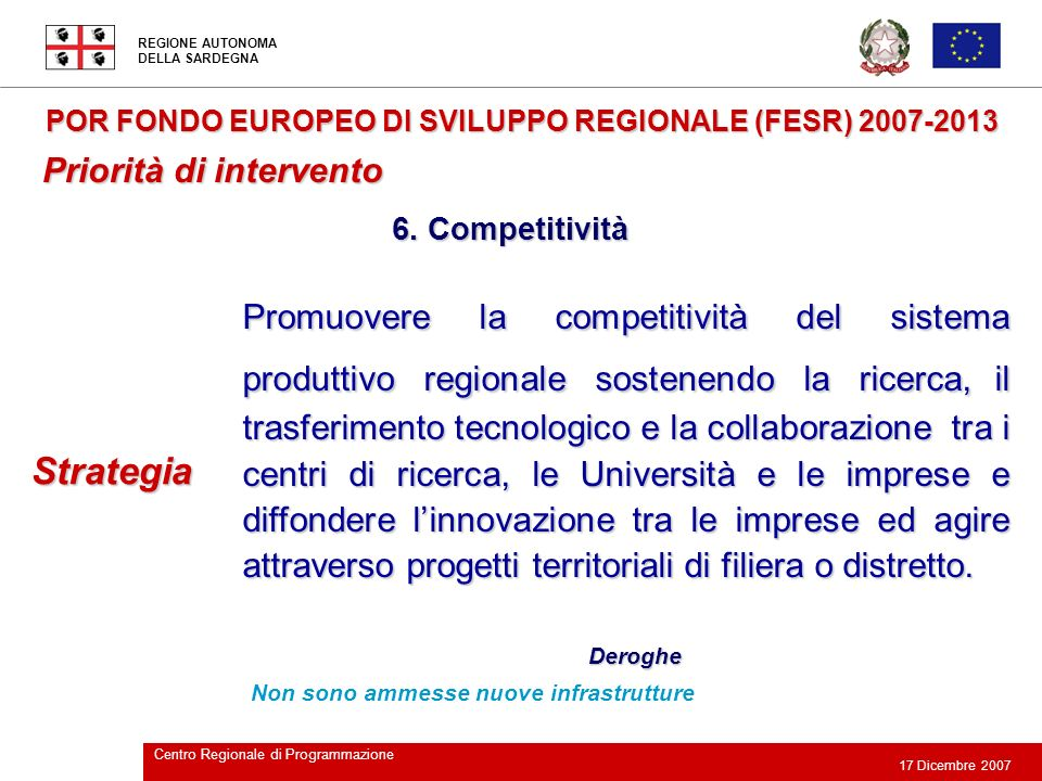 Strategia Priorità di intervento