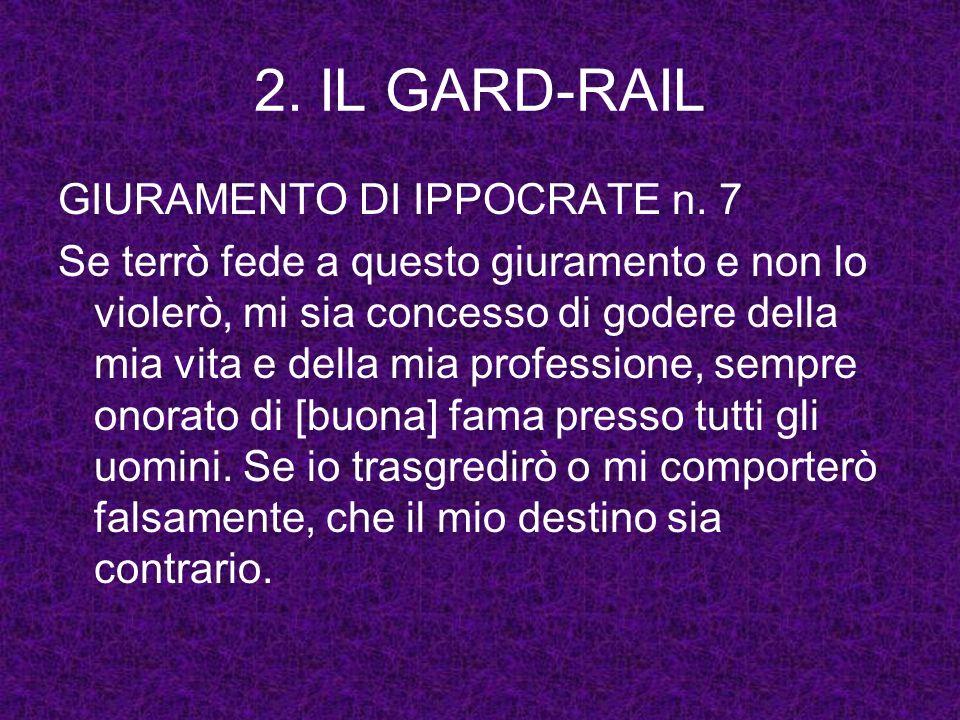 2. IL GARD-RAIL GIURAMENTO DI IPPOCRATE n. 7