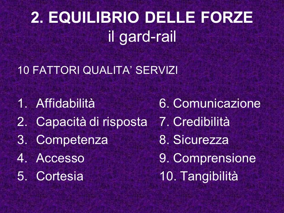 2. EQUILIBRIO DELLE FORZE il gard-rail