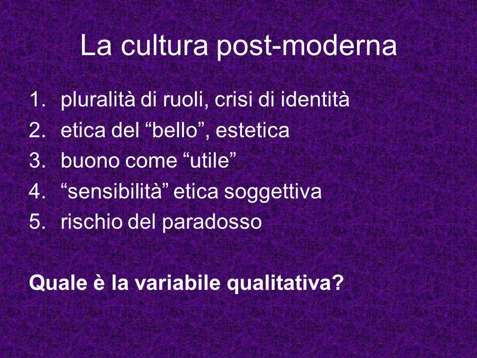 La cultura post-moderna
