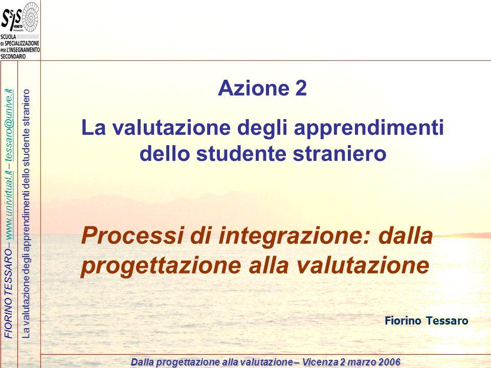 La valutazione degli apprendimenti dello studente straniero
