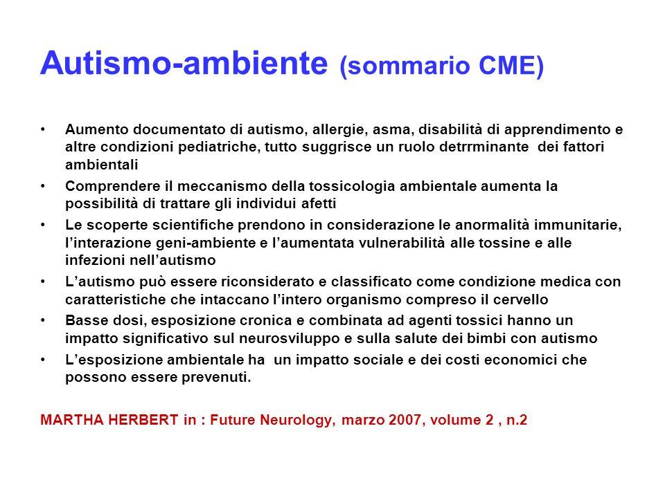 Autismo-ambiente (sommario CME)