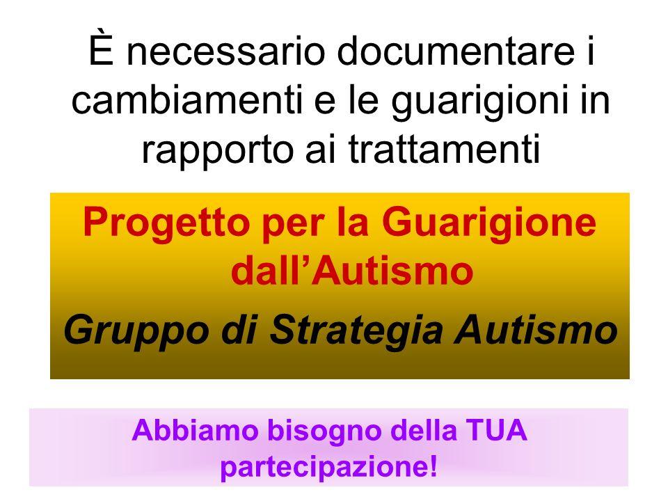 Progetto per la Guarigione dall'Autismo Gruppo di Strategia Autismo