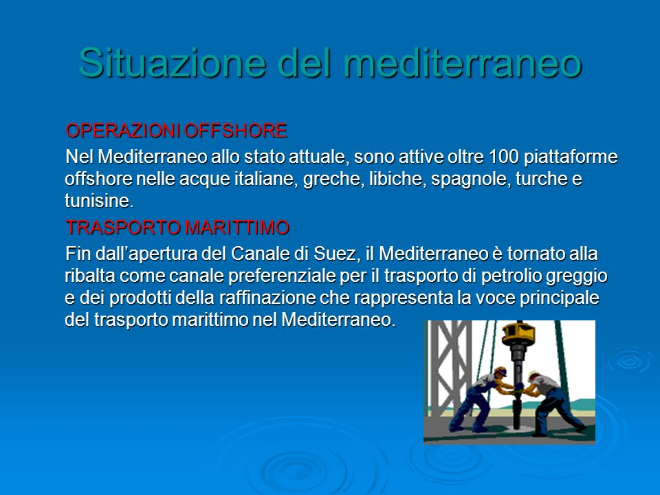 Situazione del mediterraneo