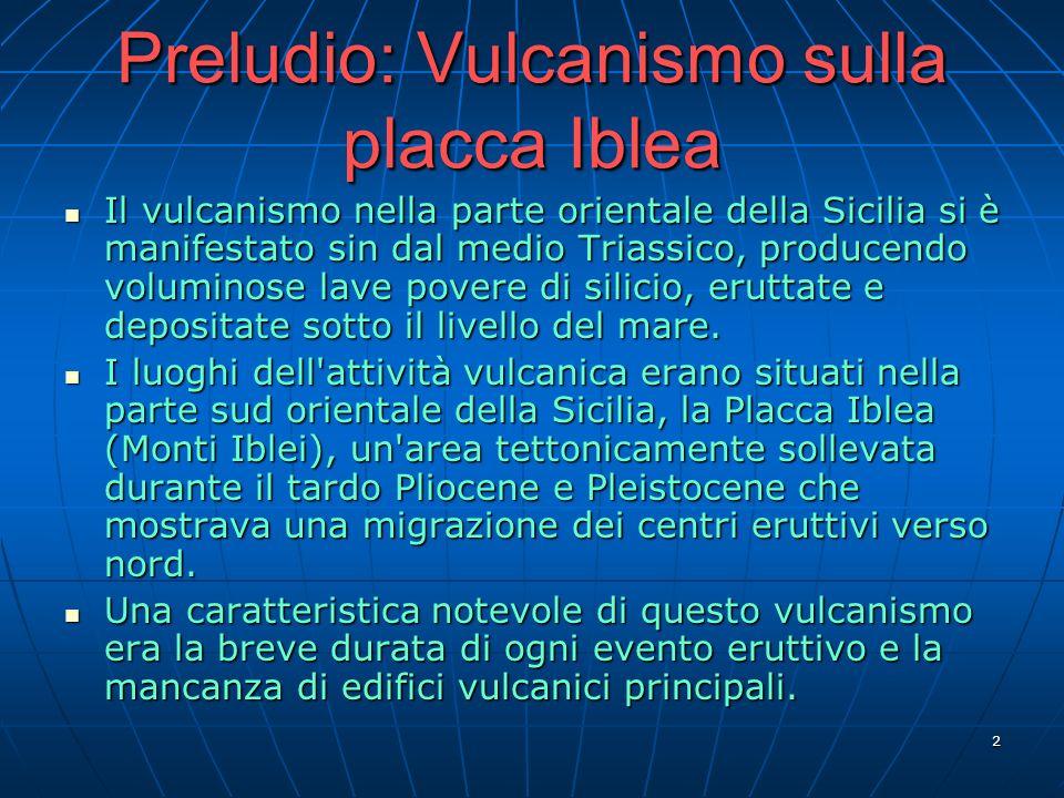 Preludio: Vulcanismo sulla placca Iblea