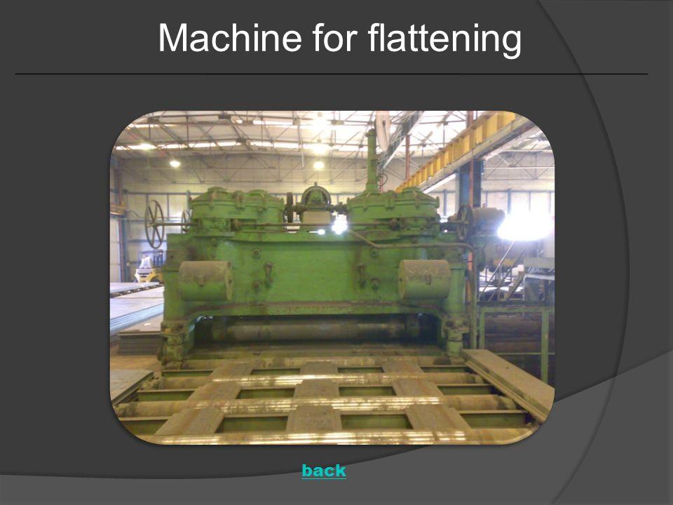Machine for flattening