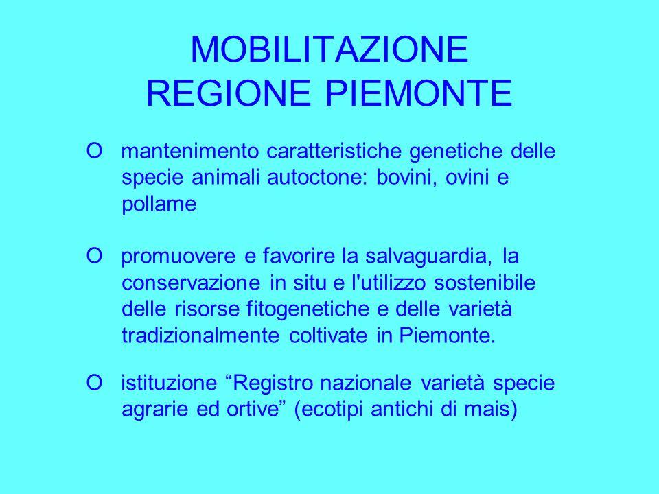 MOBILITAZIONE REGIONE PIEMONTE