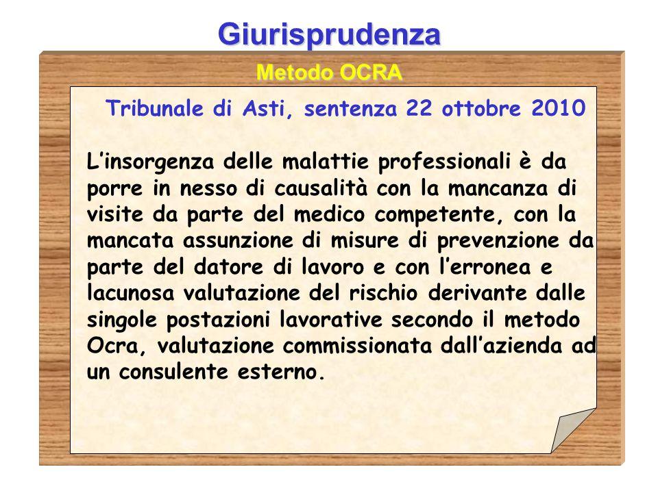 Tribunale di Asti, sentenza 22 ottobre 2010