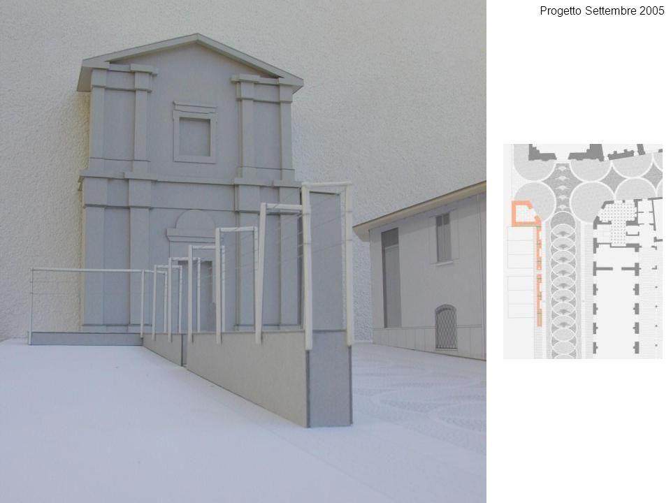 Progetto Settembre 2005 Il muro con gli elementi metallici leggeri che costituiranno il supporto per la crescita di rampicanti e vegetali vari.