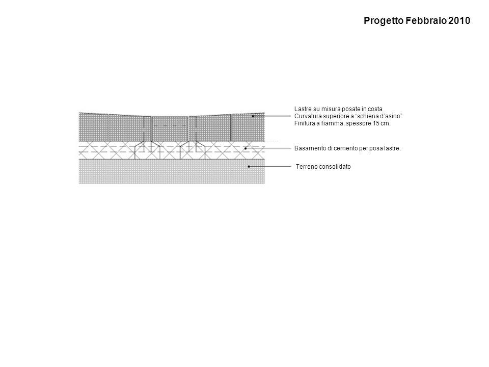 Progetto Febbraio 2010 Lastre su misura posate in costa