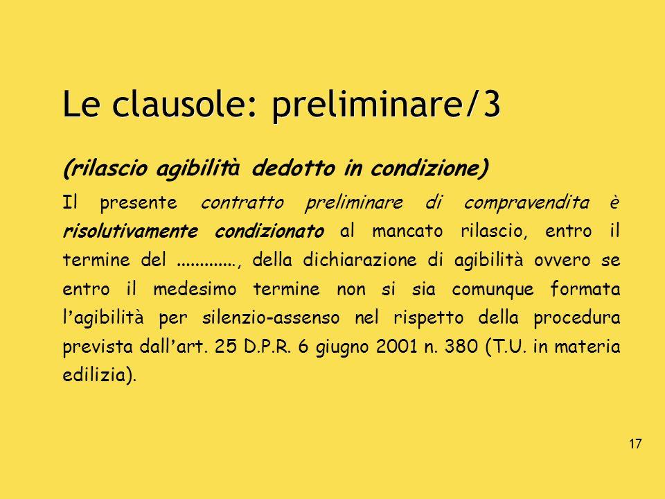 Le clausole: preliminare/3