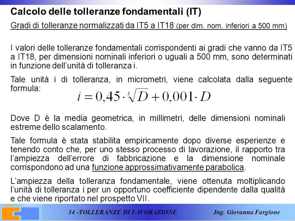 Calcolo delle tolleranze fondamentali (IT)