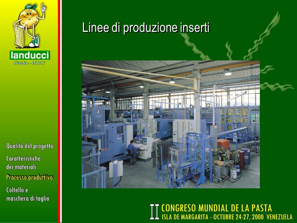 Linee di produzione inserti