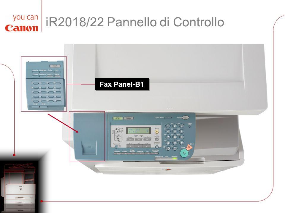 iR2018/22 Pannello di Controllo
