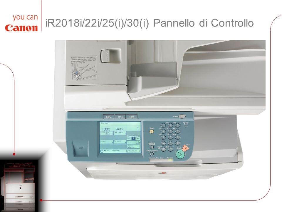 iR2018i/22i/25(i)/30(i) Pannello di Controllo