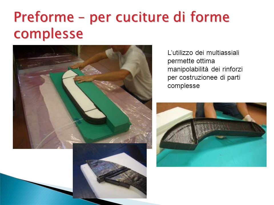 Preforme – per cuciture di forme complesse