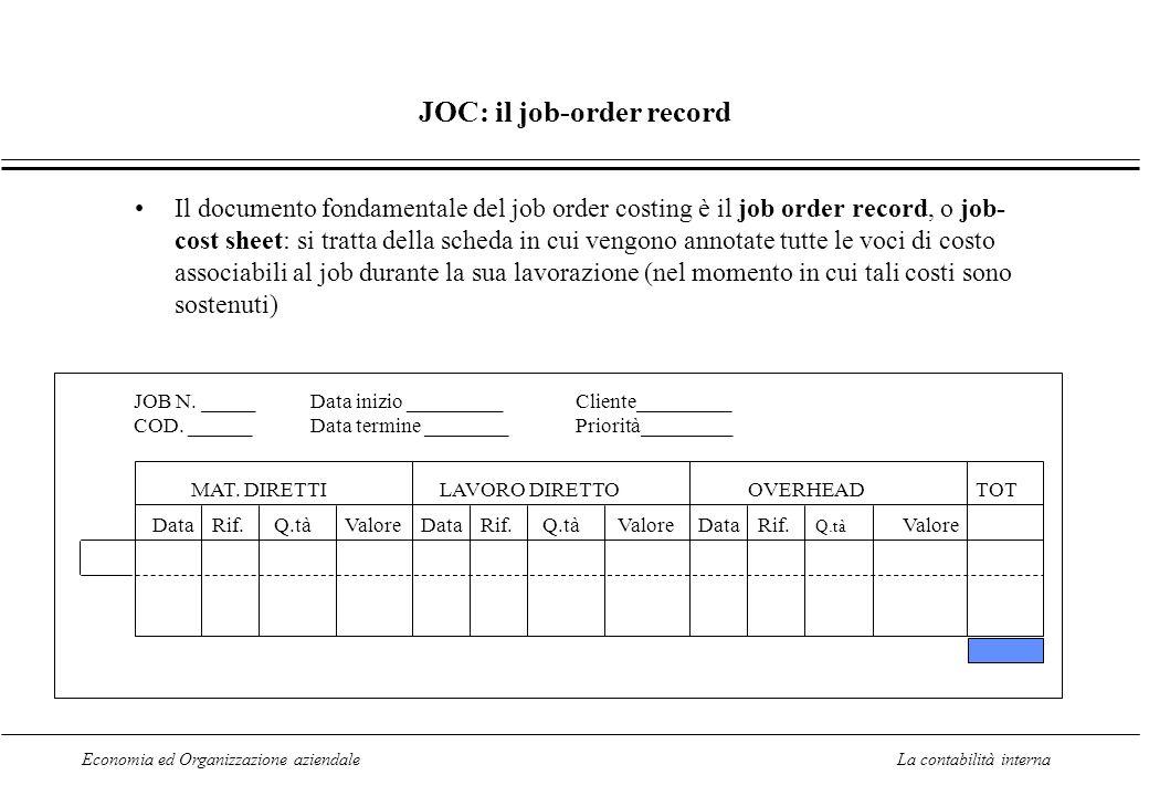 JOC: il job-order record