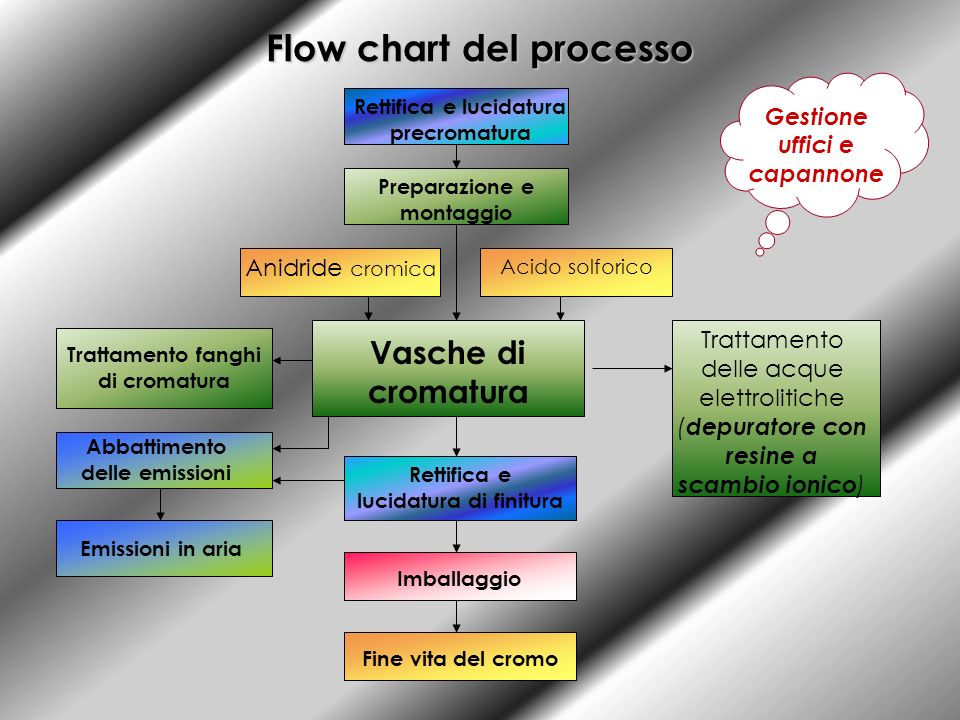 Flow chart del processo
