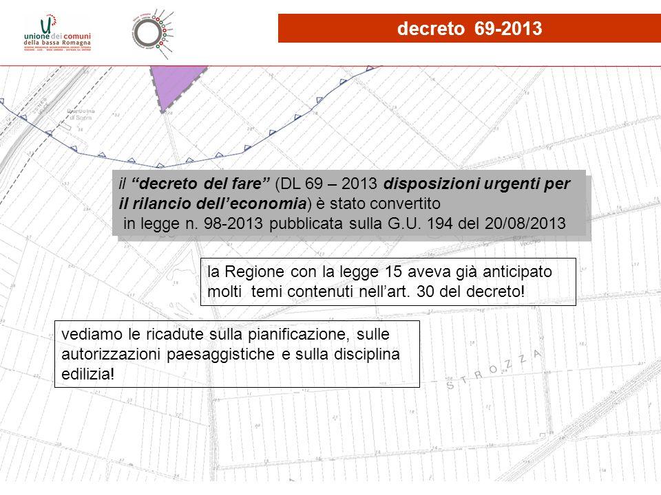 decreto 69-2013 il decreto del fare (DL 69 – 2013 disposizioni urgenti per il rilancio dell'economia) è stato convertito.