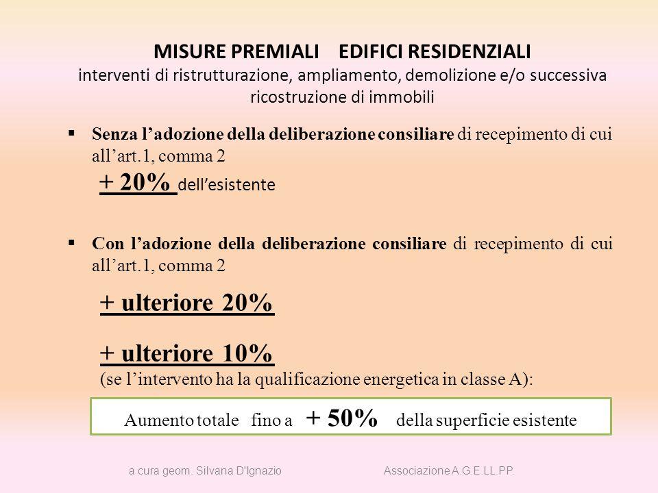 MISURE PREMIALI EDIFICI RESIDENZIALI