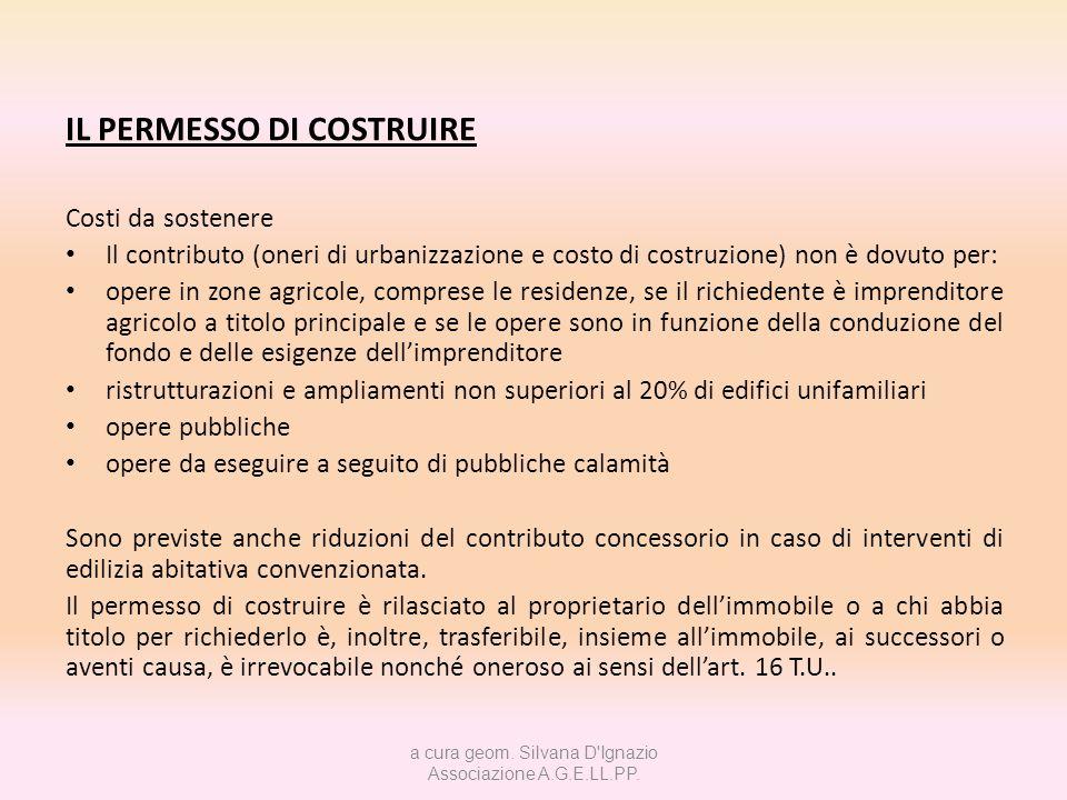 a cura geom. Silvana D Ignazio Associazione A.G.E.LL.PP.