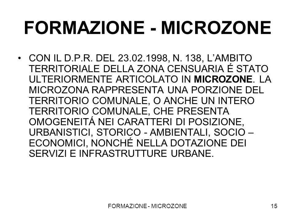 FORMAZIONE - MICROZONE