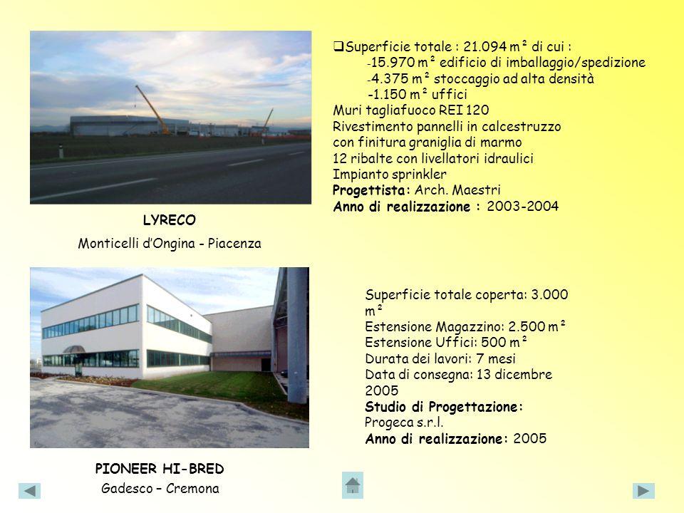 Superficie totale : 21.094 m² di cui :