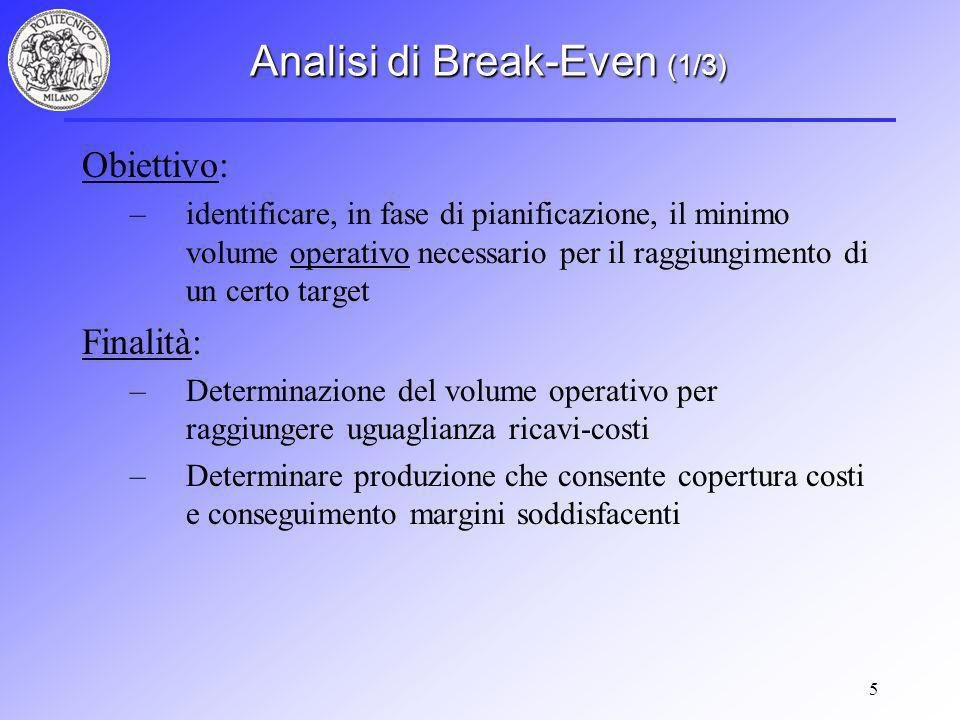 Analisi di Break-Even (1/3)