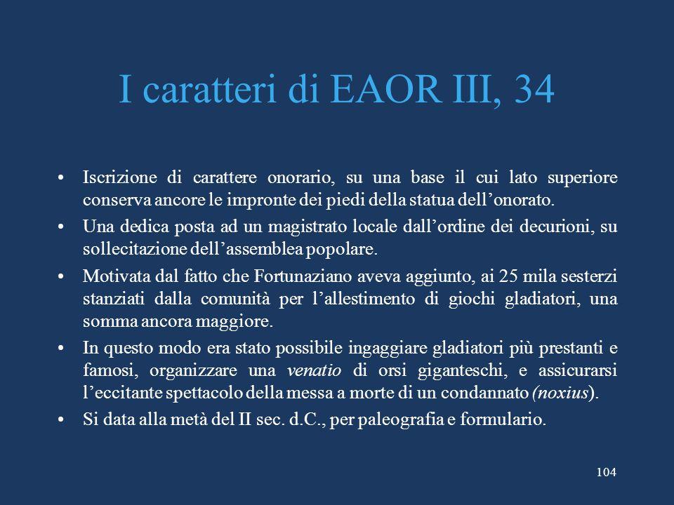 I caratteri di EAOR III, 34