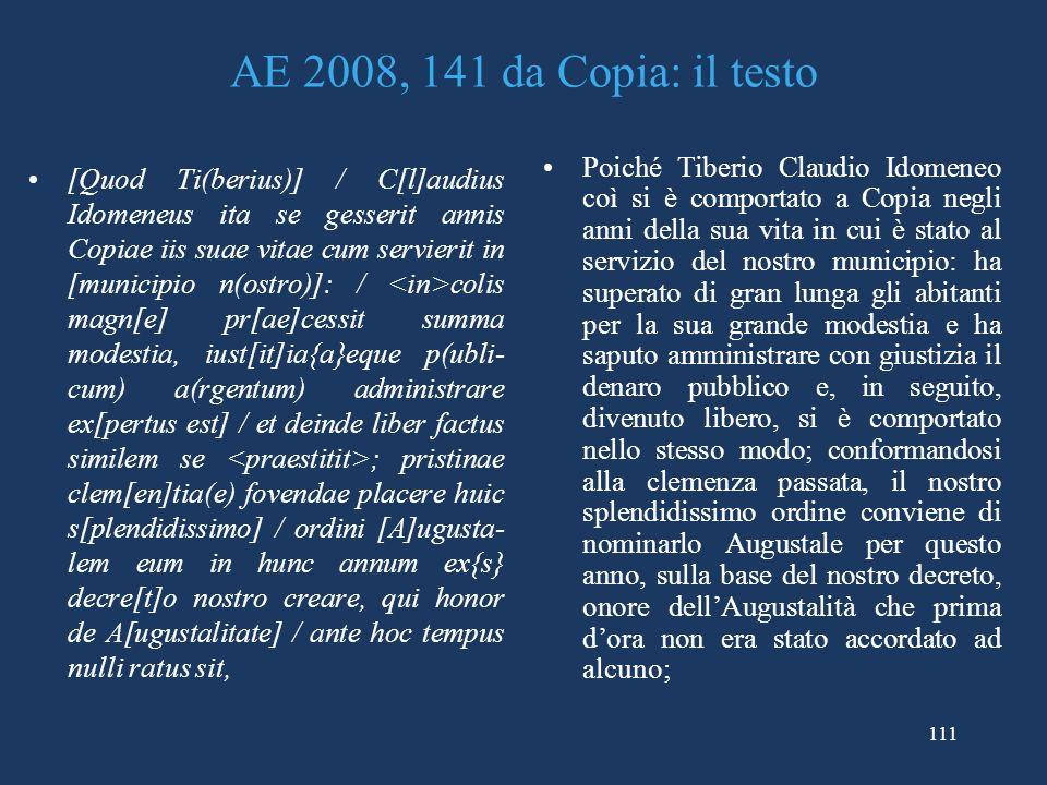 AE 2008, 141 da Copia: il testo