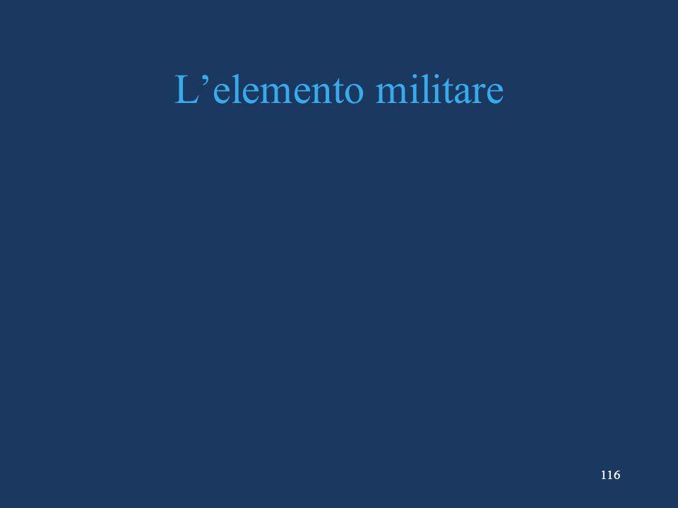 L'elemento militare