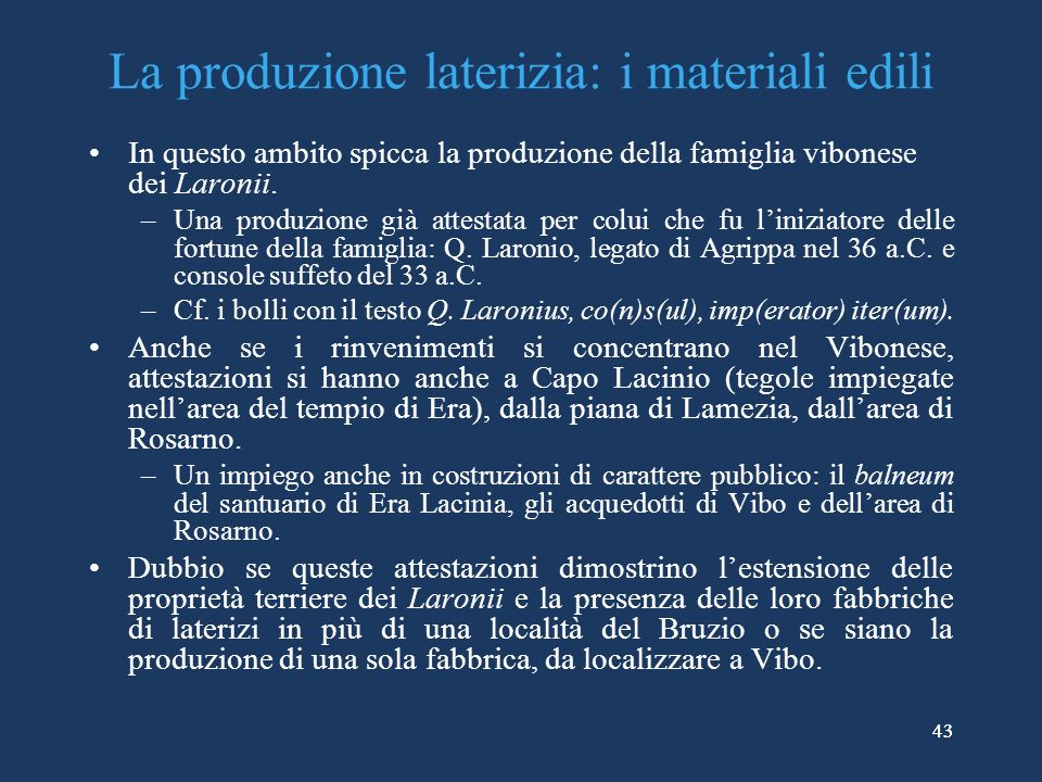 La produzione laterizia: i materiali edili