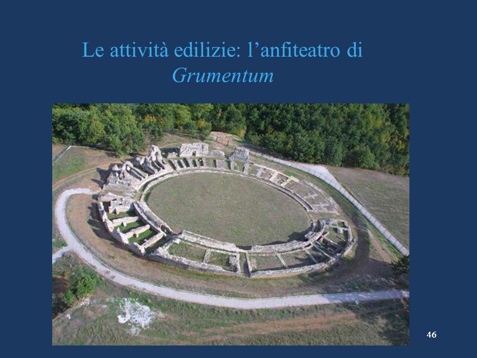 Le attività edilizie: l'anfiteatro di Grumentum