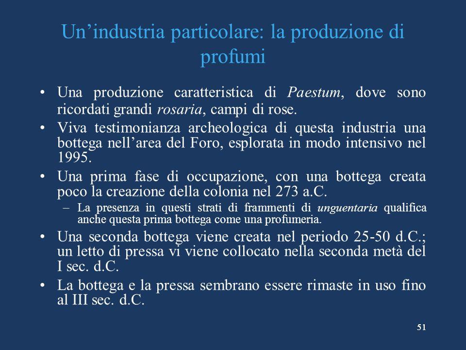 Un'industria particolare: la produzione di profumi