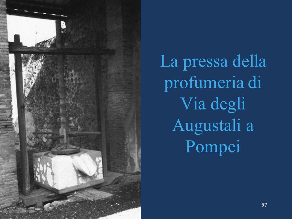 La pressa della profumeria di Via degli Augustali a Pompei