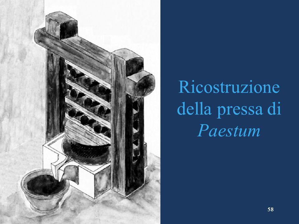Ricostruzione della pressa di Paestum