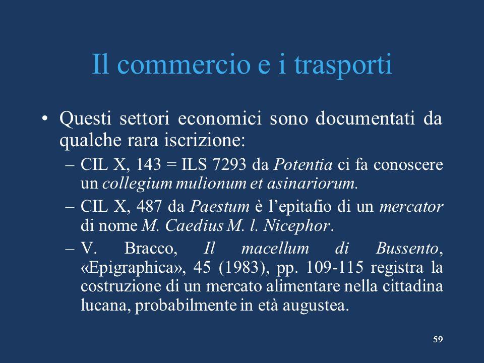 Il commercio e i trasporti