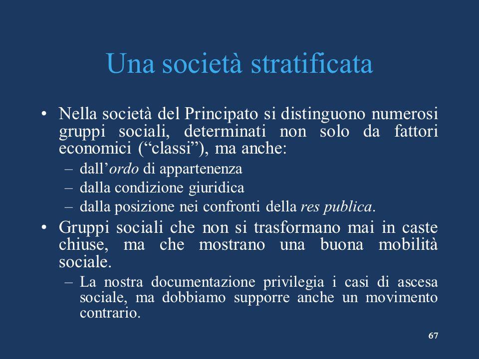 Una società stratificata